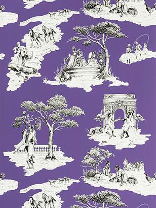 Harlem Toile - Purple