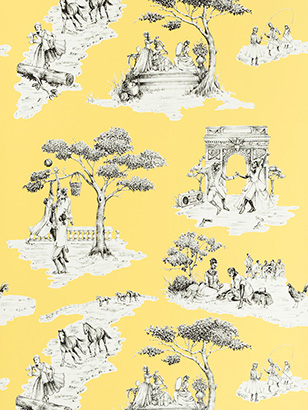 Harlem Toile - Yellow