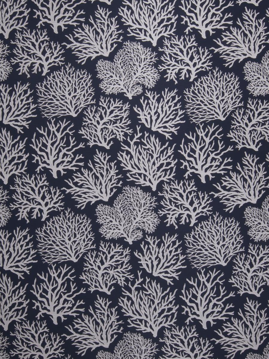Coral Reef Indigo Fabric Fabricut