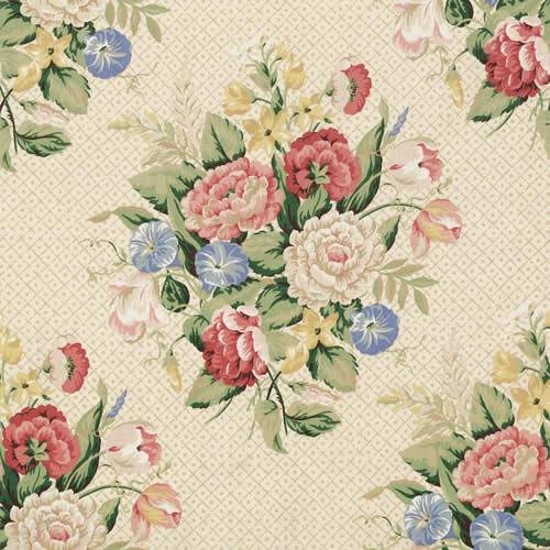english bouquet artwork   fabric   vervain