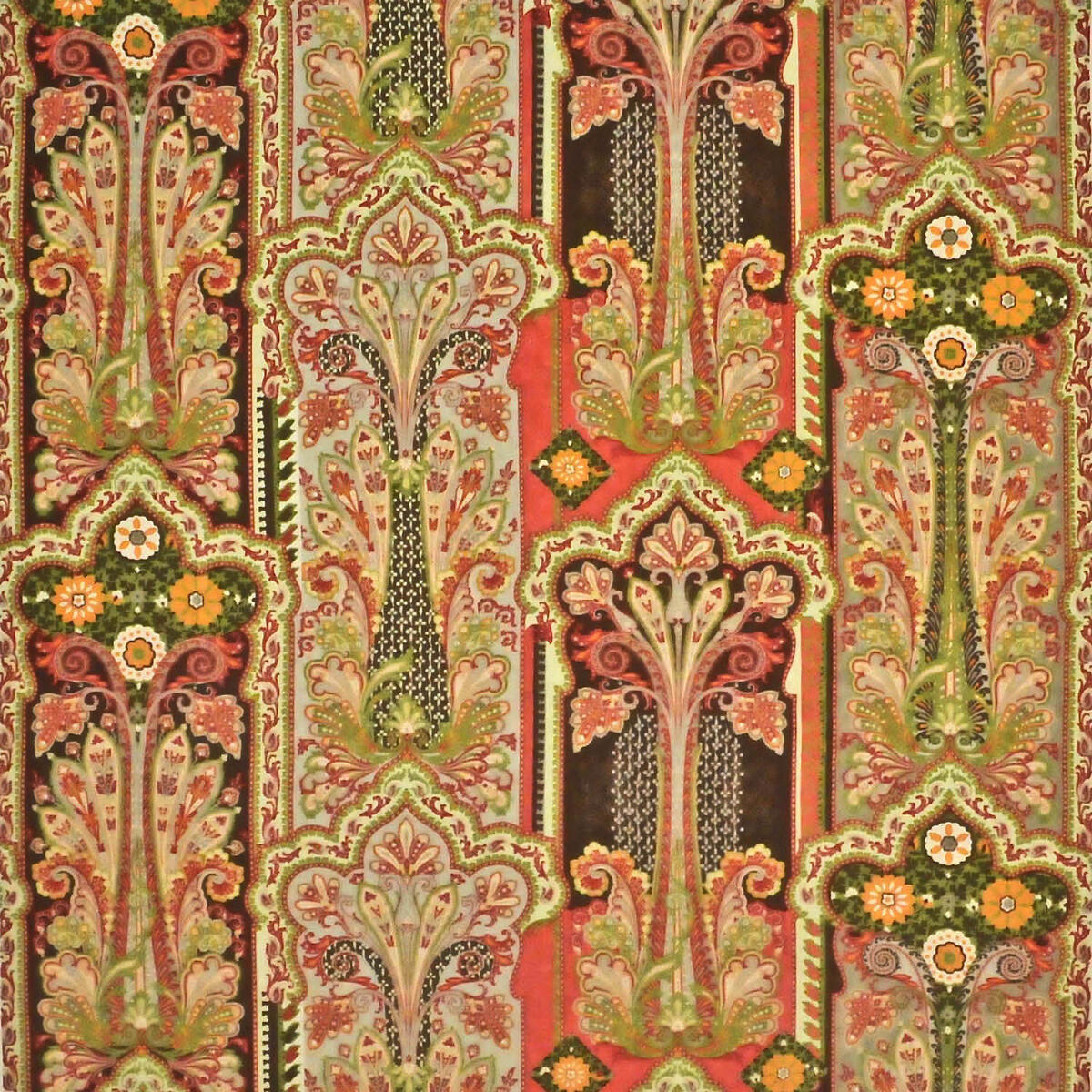 Kerala Paisley Brown
