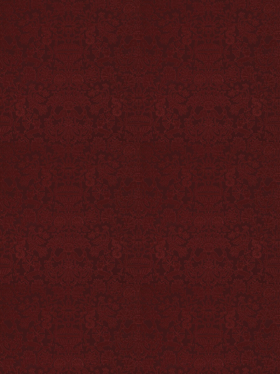 Heraklion Damask Carmine