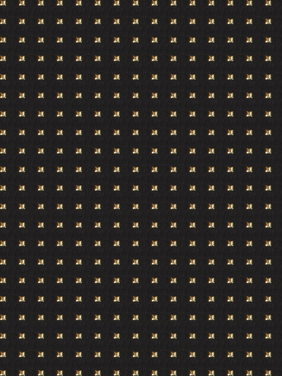 Studded Squares Gold Fabric Fabricut