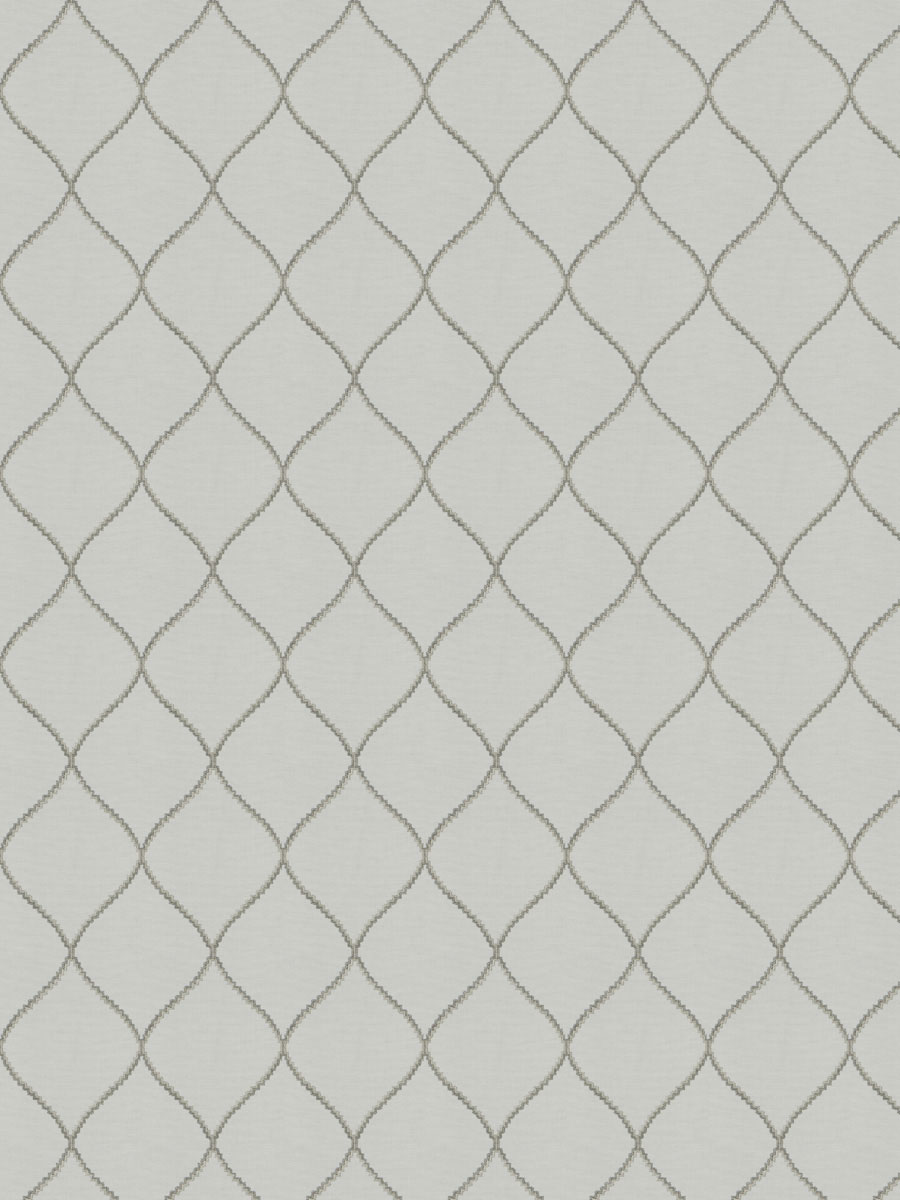 Clef Ogee Grey Fabric Fabricut