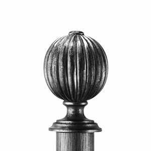 BYF3109F Fluted Ball Antique Slvr 950