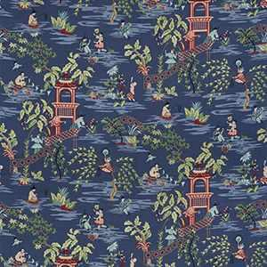 Tian Chinoiserie Blue Ribbon