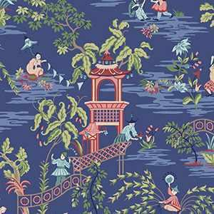 Tian Chinoiserie Wp Blue Ribbon