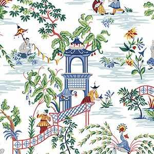 Tian Chinoiserie Wp Navy