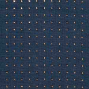 Sequin Linen Navy